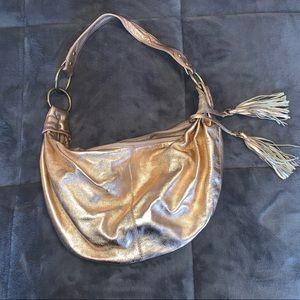 Banana Republic Rose Gold hobo purse